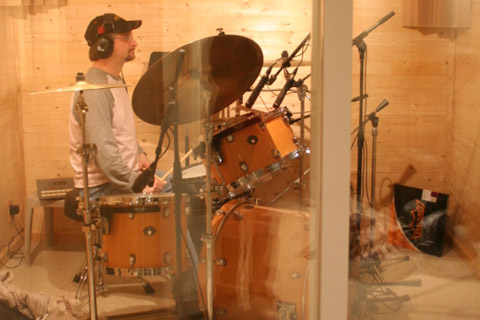 Randy Mason on a recent tracking session.